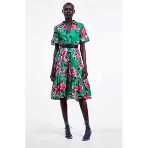 Zara Foral Dress
